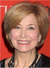 Jane Pauley Hairstyle Short Straight Lace Front Human Hair Bob Wigs