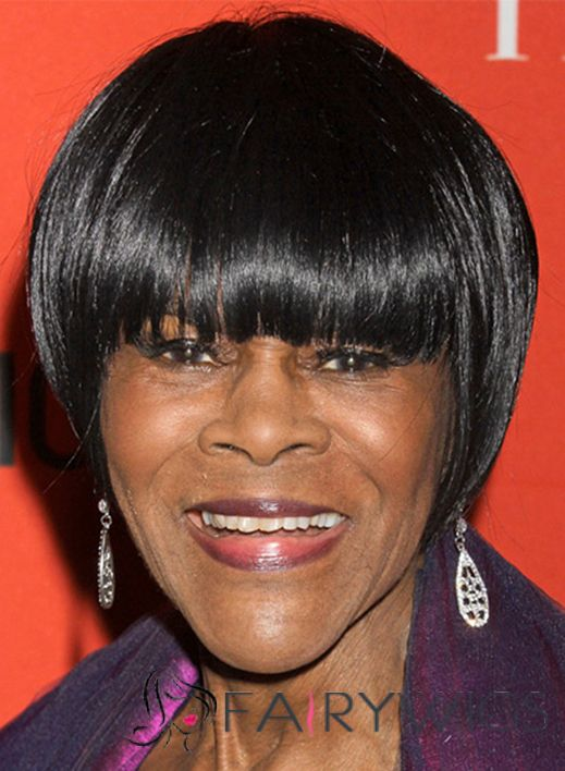 Quality Cicely Tyson Short Straight Capless Remy Human Wigs for ...