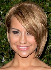 Chelsea Kane Hairstyle Short Straight Full Lace Human Hair Bob Wigs