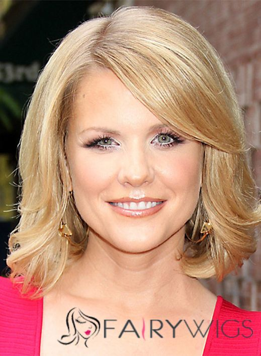 Medium Wavy Full Lace Human Hair Carrie Keagan Hairstyle Bob Wigs