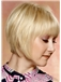 Seductive Short Straight Capless Indian Remy Hair Bob Wigs