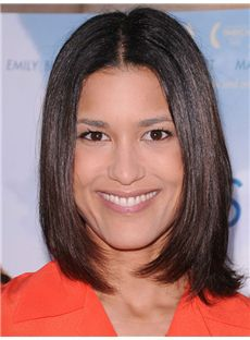 Julia Jones Hairstyle Medium Straight Full Lace Bob Wigs