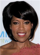 Super Regina King Short Straight Capless Remy Human Wigs for Black Women