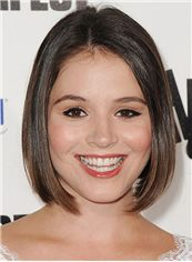 Kether Donohue Hairstyle Short Straight Lace Front Human Hair Bob Wigs