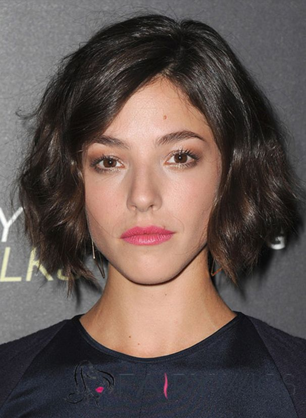 Olivia Thirlby Hairstyle Short Wavy Lace Front Human Hair