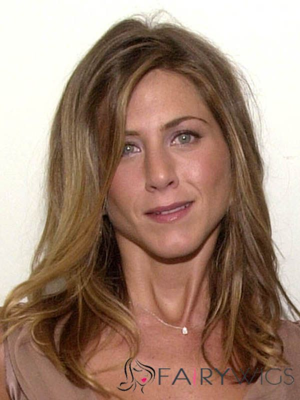 Competitive Jennifer Aniston Medium Wavy Lace Front Human Hair Wigs