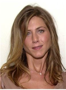 Competitive Jennifer Aniston Medium Wavy Lace Front Human Hair Wigs
