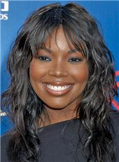 Genuine Gabrielle Union Hairstyle Medium Wavy Capless Remy Human Wigs for Black Women