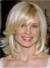 Glamourous Monica Potter Medium Wavy Capless Real Human Hair Wigs
