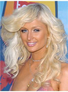 Gloss Paris Hilton Hairstyle Medium Wavy Full Lace