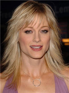 Good-Looking Teri Polo Medium Straight Capless Real Human Hair Wigs