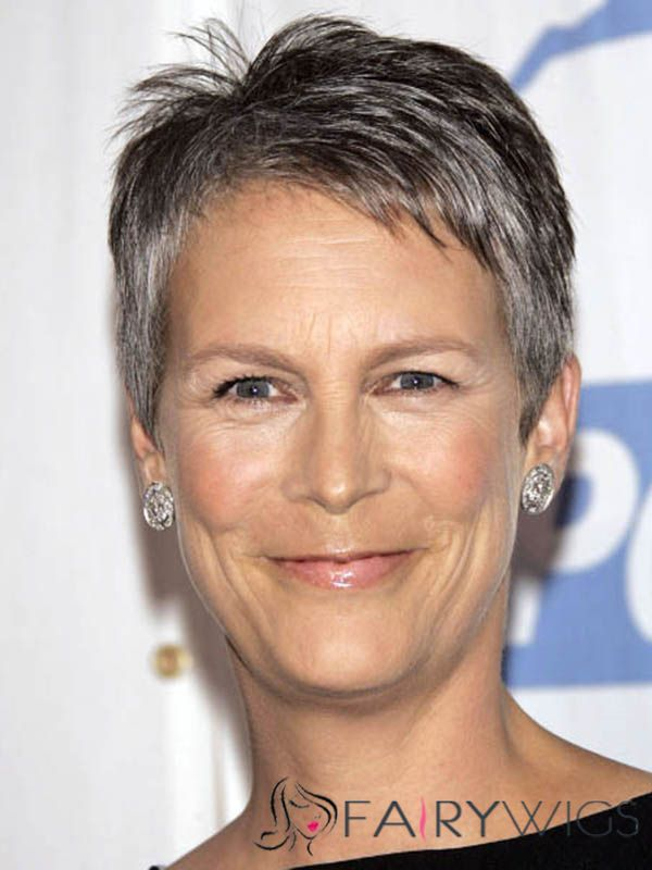 Great Jamie Lee Curtis Short Straight Full Lace Real Human