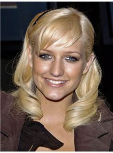 Incredible Ashlee Simpson Hairstyle Medium Wavy Full Lace Remy Human