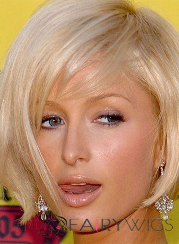 Inexpensive Paris Hilton Hairstyle Short Straight Capless Remy Human