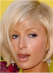 Inexpensive Paris Hilton Hairstyle Short Straight Capless Remy Human Wigs
