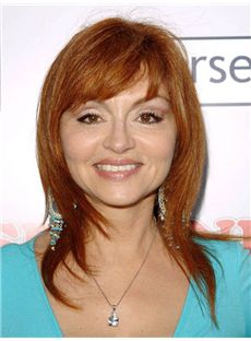 Judy Tenuta Hairstyle Medium Straight Capless Remy Hair Wigs