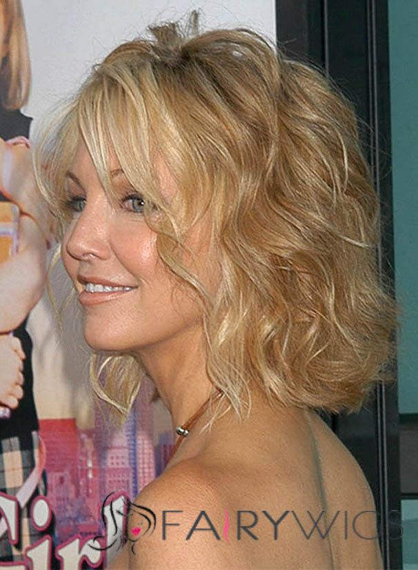 Luxuriant Heather Locklear Short Wavy Capless Human Hair
