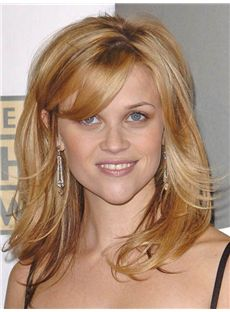 Smart Reese Witherspoon Medium Wavy Full Lace Real Human Hair Wigs
