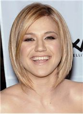 Sonsy Kelly Clarkson Short Straight Lace Front Real Human Hair Wigs