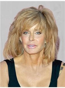 Worthwhile Farrah Fawcett Hairstyle Medium Wavy Capless Human Wigs