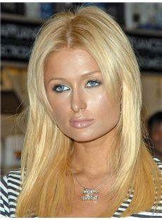 Paris Hilton Hairstyle Medium Straight Full Lace Remy Hair Wigs