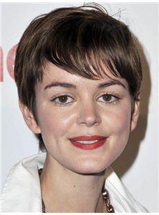 Nora Zehetner Hairstyle Short Straight Full Lace Remy Hair Wigs