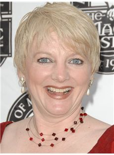 Alison Arngrim Hairstyle Short Straight Full Lace Human Wigs