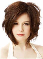 Dazzling Short Wavy Full Lace 100% Human Hair Wigs