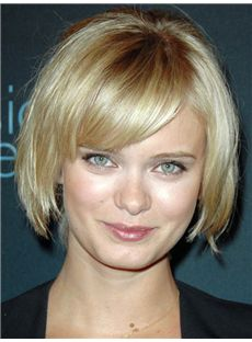 Sara Paxton Hairstyle Short Straight Full Lace Remy Hair Wigs