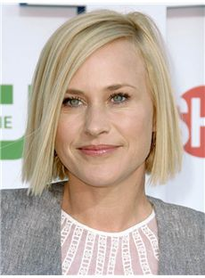 Elegant Patricia Arquette Short Straight Full Lace Real Human Hair