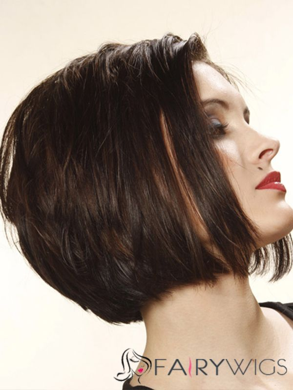 Fascinating Short Straight Lace Front Human Hair Wigs