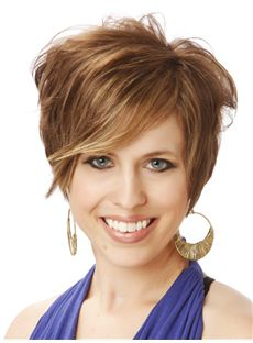 Short Wavy Full Lace Remy Hair Wigs