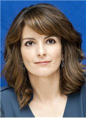Gloss Tina Fey Hairstyle Medium Wavy Capless Real Human Hair Wigs