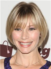 Graceful Meredith Monroe Short Straight Full Lace Human Hair Wigs