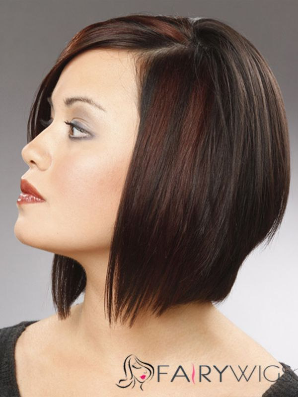 High Short Straight Lace Front Human Hair Wigs