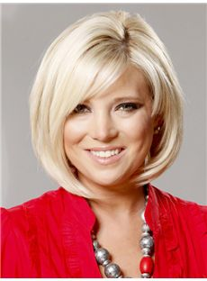 Illusion Short Straight Lace Front Human Hair Wigs