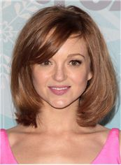 Ravishing Jayma Mays Hairstyle Short Straight Full Lace Human Wigs