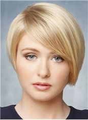 Sexy Short Straight Full Lace Remy Hair Wigs
