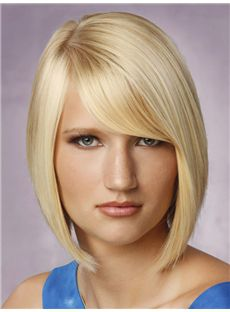 Shiny Short Straight Full Lace Human Hair Human Wigs