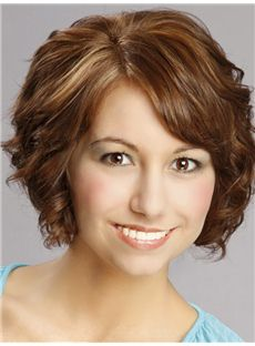 Sophisticated Daisy Fuentes Short Wavy Lace Front Human Hair Wigs