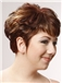Sweet Jennifer Aniston Short Wavy Capless Real Human Hair Wigs