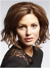 Cool Short Wavy Full Lace 100% Human Hair Wigs