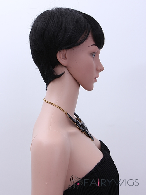 Glamorous Short Straight Capless African American Wigs for Women