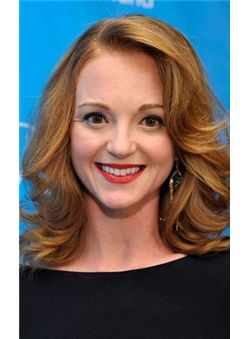 Hottest-Selling Jayma Mays Medium Wavy Lace Front Real Human Hair Wigs