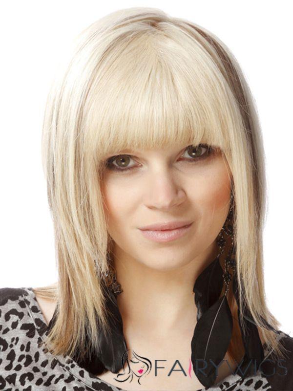 Sensational Top Selling Rene Russo Medium Straight Capless Human Hair Wigs Short Hairstyles Gunalazisus