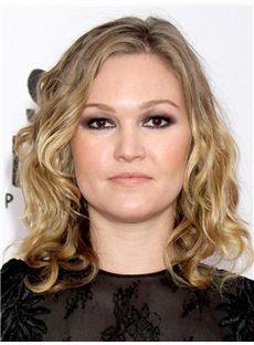 Fashion Julianna Guill Hairstyle Medium Wavy Lace Front Human Wigs