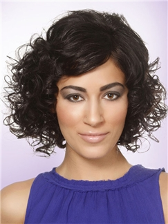 Great Finola Hughes Hairstyle Short Wavy Capless Human Wigs