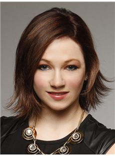 Mercedes Renard Hairstyle Short Wavy Full Lace Remy Hair Wigs