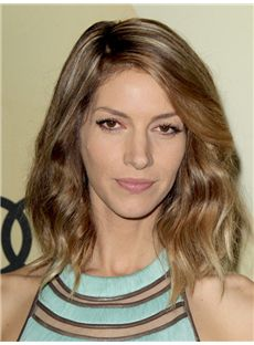 Anne Hathaway Hairstyle Medium Wavy Full Lace Human Wigs