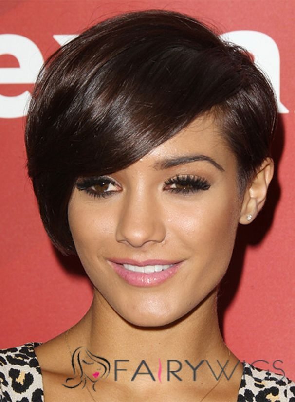 Lustre Julianne Hough Short Straight Full Lace Human Hair Wigs